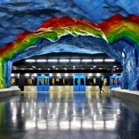สถานีรถไฟใต้ดินแบบนี้มีที่ไหนกันนะ
